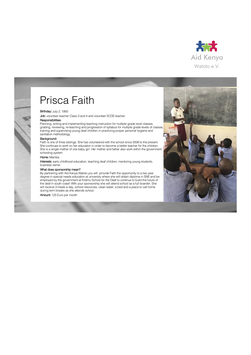 Sponsorship Prisca Faith