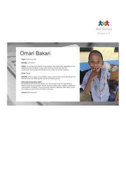 Sponsorship Omari Bakari