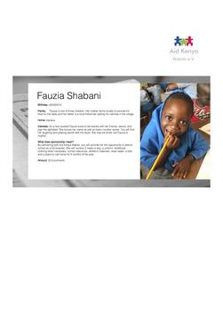 Sponsorship Fauzia Shabani