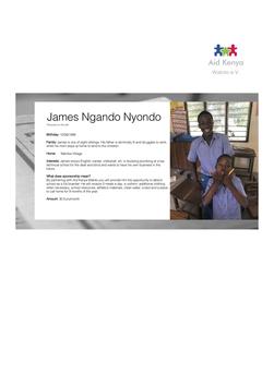 Sponsorship James Ngando Nyondo