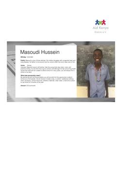 Sponsorship Masoudi Hussein