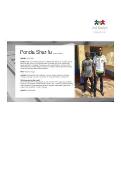 Sponsorship Ponda Sharifu
