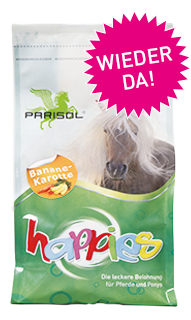 Parisol delicious snacks  Happies banana-carrot