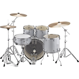 RYD20 RYDEEN ACOUSTIC DRUM KIT FUSION PACKAGE  Silver Glitter In stock