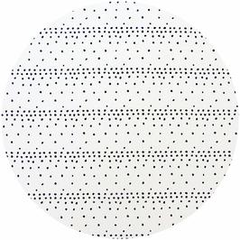Points noirs sur fond blanc