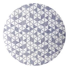 Triangles à points bleu marine sur fond gris clair