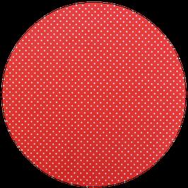 Pois blancs sur fond rouge