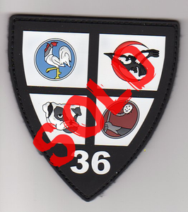 French Air Force patch 36e EDCA E-3F AEW PVC version