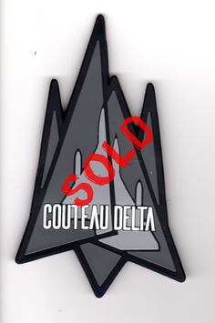 French Air Force patch `COUTEAU DELTA´ Mirage 2000D Tactical Display Team PVC