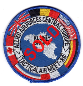 NATO patch TAM 1982 - Tactical Air Meet 1986   Kleine-Brogel