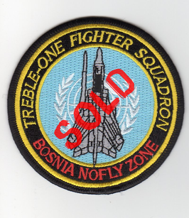 Royal Air Force patch No.111 Squadron / CXI Sqn Bosnia No-Fly Zone   - obsolete -