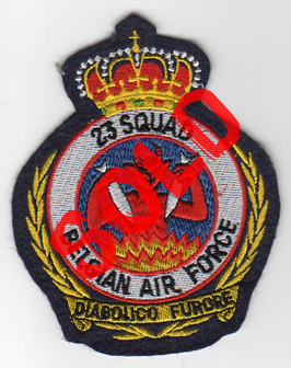 Belgian Air Force crest patch 23 Squadron / 23 Smaldeel   - disbanded -