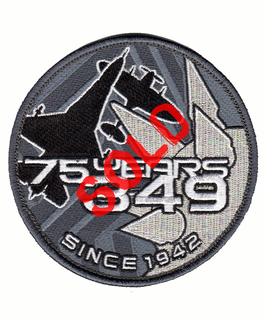 Belgian Air Force patch 75 years 349 Squadron