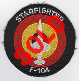 Belgian Air Force patch F-104 Starfighter roundel older   - obsolete -