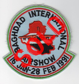 Royal Air Force patch Baghdad International Airshow 1991 Tornado   - obsolete -