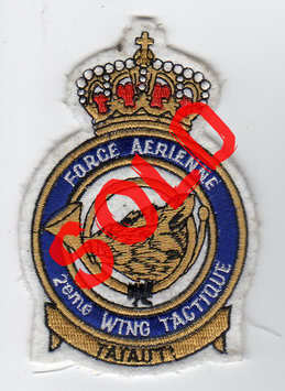 Belgian Air Force patch 2eme Wing Tactique / 2nd Tactical Wing crest Mirage V