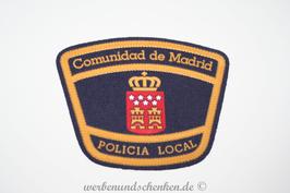 Patch 3D Rubber Patch Polizei Spanien Autonome Gemeinschaft Madrid Comunidad de Madrid Policia Local
