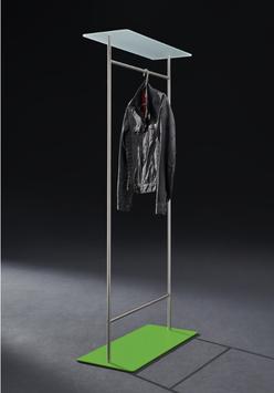 Kleiderständer TWIN mit Glasablage