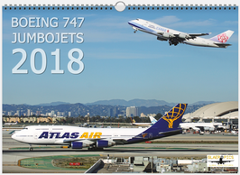 BOEING 747 JUMBOJETS 2018 WALLCALENDAR DIN A3