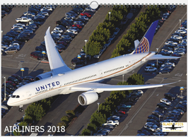 AIRLINERS 2018 WALLCALENDAR DIN A3