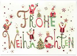 Frohe Weihnachten Nikolaus-Puppen