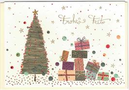 Frohes Fest Geschenke unterm Weihnachtsbaum
