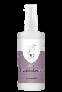 Raab Bio Traubenkernöl 100 ml in der Glaspumpflasche