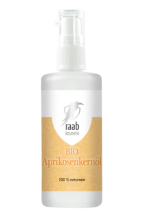 Raab Bio Aprikosenkernöl 100 ml in der Glaspumpflasche