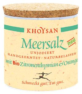Khoysan Meersalz mit Bio Zitronenthymian & Orange 200 g