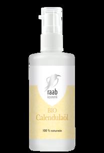Raab Bio Calendulaöl 100 ml in der Glaspumpflasche
