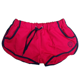 GymShark Luxe Shorts rot/schwarz