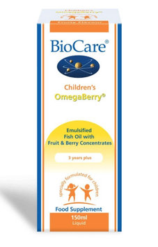 BioCare Children`s OmegaBerry 150ml (Omega3 Fischöl)