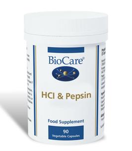BioCare HCl & Pepsin 90 Capsules