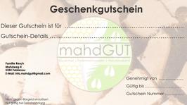 """Gutschein """"Mahdgut-Köstlichkeiten"""""""