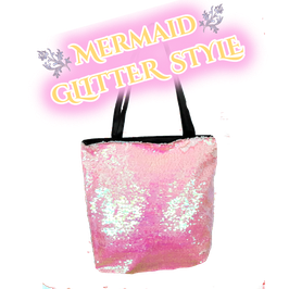 Meerjungfrauen Strandbag mit Pailletten - GLITTER MERMAID