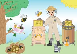 Die Biene Sabine und die Frühblüher