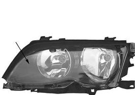Koplamp BMW E46 sedan en Touring facelift chroom