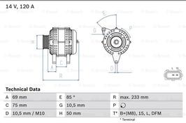 Dynamo  120A BMW E46 E39 E38 Z3 M52 motoren