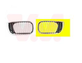 Grille links voor BMW E46 sedan touring oem 7042961 7030545  zwart/chroom