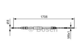 Handrem kabel rechts BMW E46