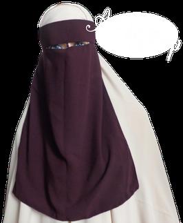 Ninja Niqab Aubergine