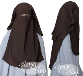 Niqab Dunkelbraun