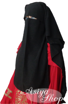 Niqab mit Klappe