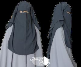 Niqab Dunkelgrau