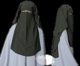 Niqab Dunkelgrün (Oliv)
