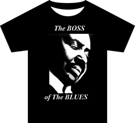 "Big Joe Turner ""Boss of the Blues"" Black T Shirt"