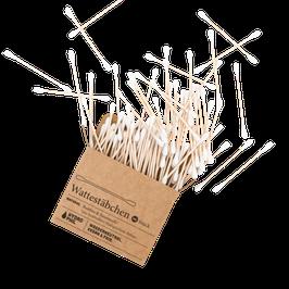 Wattestäbchen aus Bambus und Bio-Baumwolle 100 Stück