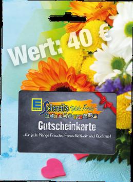 Scherer's Gutschein Wert 40 €