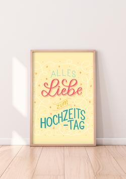 """Poster """"Zum Hochzeitstag"""""""
