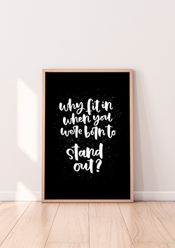 """Poster """"Stand out"""""""